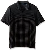 Perry Ellis Men's Big and Tall Engineered Stripe Polo