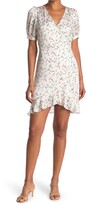 Thumbnail for your product : Lucy Paris Sabine Floral Puff Sleeve Wrap Dress