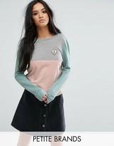 Noisy May Petite Color Block Motif Sweater
