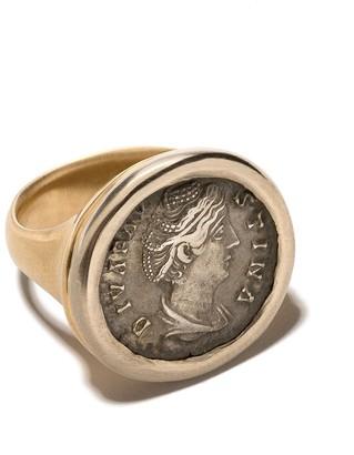 hum 18kt Gold Engraved Signet Ring