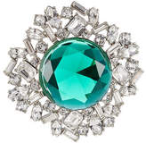 Kenneth Jay Lane Crystal Brooch with Faceted Stone