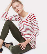 LOFT Modern Striped Tunic Sweater