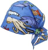 Dolce & Gabbana Fishes Printed Cotton Poplin Hat