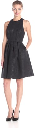 Erin Fetherston Erin Women's Gigi Tback Herringbone Jacquard Flare Dress