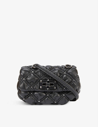 Valentino Spike Me small studded quilted-leather shoulder bag