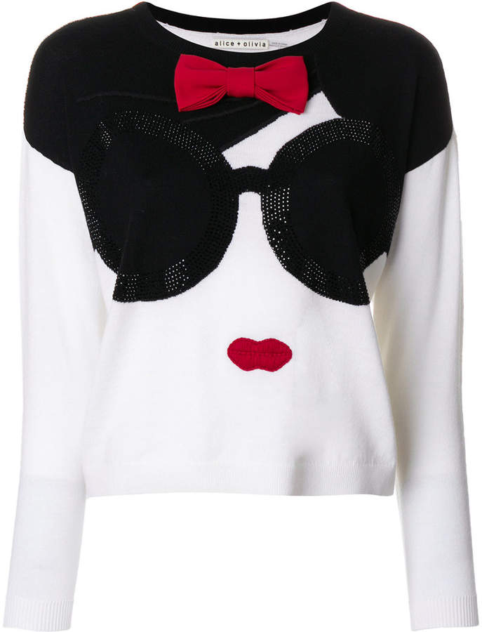Alice + Olivia Alice+Olivia knitted face top