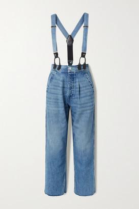 RE/DONE Hikari Mori High-rise Wide-leg Jeans With Braces - Mid denim