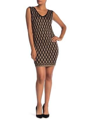 Papillon V-Neck Sleeveless Print Dress