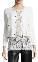 IRO Agnette Cropped Boucle Jacket, White