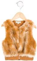 Kenzo Girls' Faux Fur Knit Vest