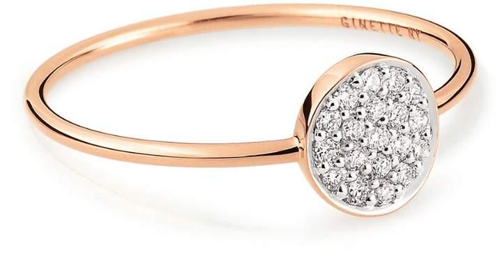 ginette_ny Mini Diamond Ever Disc Ring