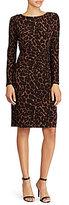 Lauren Ralph Lauren Jersey Ocelot-Print Dress