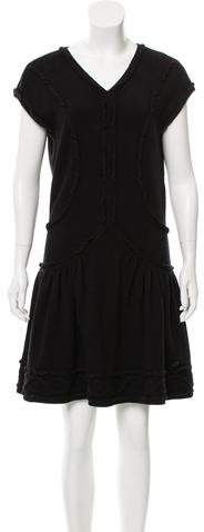 Chanel Knit Cap Sleeve Dress