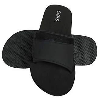 Chaps Men's Mixed Material Slide Sandals