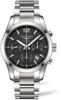 Longines Conquest Classic Stainless Steel Chronograph Bracelet Watch