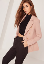 Missguided Military Style Blazer Nude
