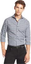 Vince Camuto Men's Shortshirt Plaid Long-Sleeve Shirt