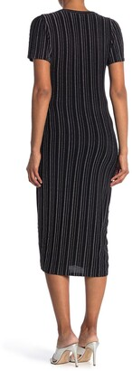 19 Cooper Stripe Front Button Midi Dress