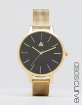 Asos Black & Gold Mesh Watch