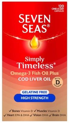 Seven Seas Cod Liver Oil Gelatine Free 120 Capsules