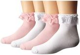 Jefferies Socks Lovely Lace Anklet 4-Pack (Infant/Toddler/Little Kid/Big Kid)