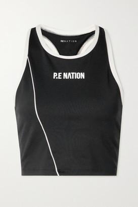 P.E Nation Match Play Printed Stretch Sports Bra