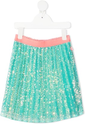 Billieblush Sequinned Pleat Midi Skirt