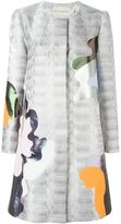 Mary Katrantzou Framis a-line coat - women - Silk/Polyester/Polyurethane - 8
