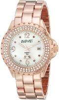 August Steiner Women's AS8156RG Analog Display Japanese Quartz Rose Gold Watch