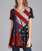 Lily Red & Blue American Flag Tunic - Plus Too