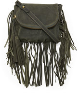 Cynthia Vincent Autumn Leather Fringe Crossbody Bag, Green