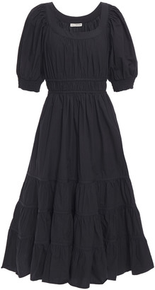 Ulla Johnson Tiered Gathered Cotton-poplin Midi Dress
