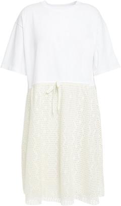See by Chloe Crochet-paneled Cotton-jersey Dress