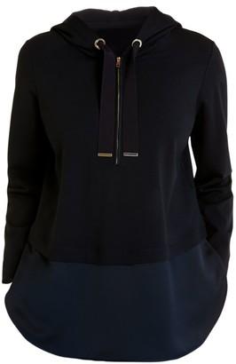 Marina Rinaldi, Plus Size Sport Obelisco Jersey Punto Hooded Sweatshirt