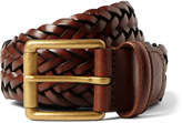 Anderson's - 3.5cm Brown Woven Leather Belt