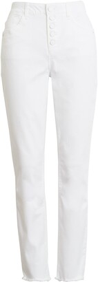 Wit & Wisdom Ab-Solution High Waist Button Fly Ankle Skinny Jeans