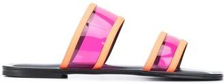 Pollini Sheer Strap Sliders