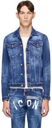 DSQUARED2 Blue Denim Dan Icon Wash Jacket