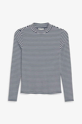 Monki Long-sleeved low turtleneck top