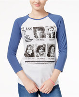 Hybrid The Breakfast Club Juniors' Yearbook Graphic Raglan T-Shirt