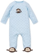 Little Me Monkey Footed Coverall, Baby Boys