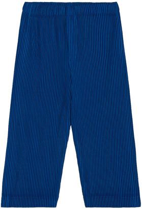 Homme Plissé Issey Miyake Colorful Pleat Crop Straight Pant in Deep Blue   FWRD
