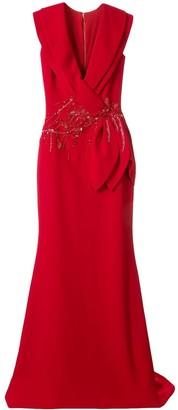 Saiid Kobeisy Sequinned Waist Gown