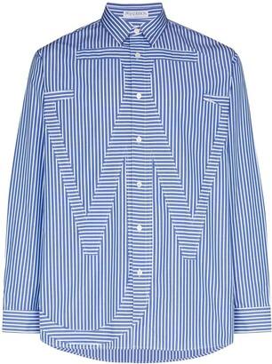 J.W.Anderson Anchor motif striped shirt