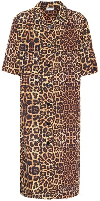 Dries Van Noten Leopard-print cotton shirt dress