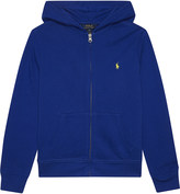 Ralph Lauren Zipped cotton hoody 6-14 years