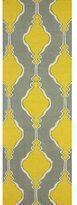 nuLoom Handmade Flatweave Wool Trellis Yellow Runner Rug (2'6 x 8')