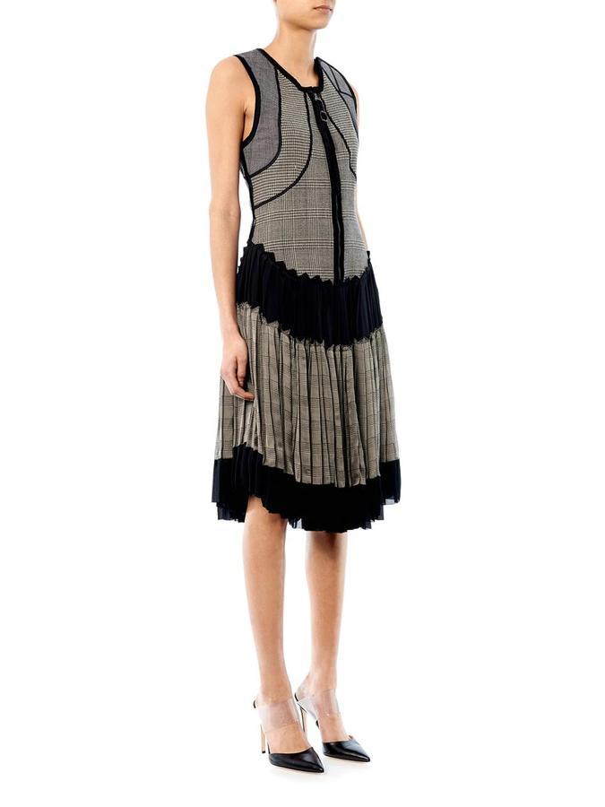 Jean Paul Gaultier Decades X Plaid-print pleated dress