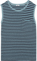 Splendid Striped Stretch-jersey Top - Blue
