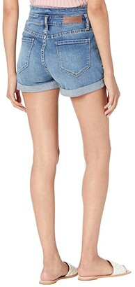 Rock and Roll Cowgirl High-Rise Denim Shorts in Medium Vintage 68H9784